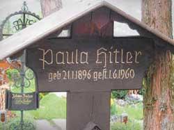 Могила родной сестры фюрера — Паулы Гитлер.