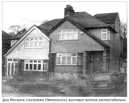 Дом Смотряева (Явлинского) в Лондоне